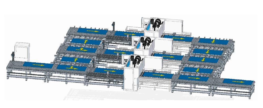 станок в составе автоматизированой линии